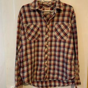 Levi's long sleeve plaid button down shirt size L